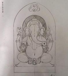 Mysore Painting, Kerala Mural Painting, Tanjore Painting, Indian Art Paintings, Ganesha Drawing, Ganesha Painting, Ganesha Art, India Art, Buddhist Art