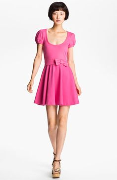 RED Valentino Bow Waist Jersey Dress available at Nordstrom