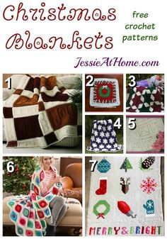Christmas Blankets free crochet pattern round up from Jessie At Home