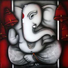 Eternal Ganesha  by Prakash Raman  on Artflute.com'