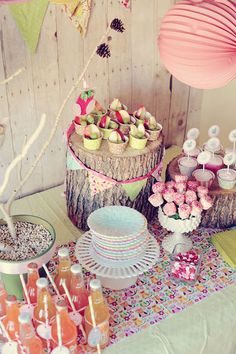 perfect in every way - owl party food & drinks - shabby chic owl party ! WHO knew? ♡