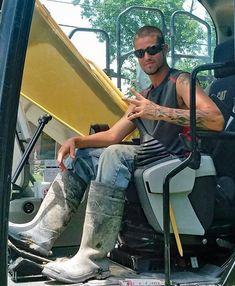 Firefighter Boots, Hi Vis Workwear, Worker Boots, Hot Cowboys, Farm Boys, Country Men, Bear Men, Wellington Boot, Rain Boots