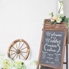 結婚式ブライダル パーティー プログラム リストのサインへようこそデカールの壁デカール カスタム ビニール アート結婚式のためのステッカー