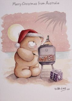 christmas in australia pictures - Google Search Cartoon Pics, Cartoon Drawings, Cute Drawings, Cold Porcelain Tutorial, Happy Holidays Wishes, Christmas In Australia, Hello Kitty Christmas, Friend Cartoon, Teddy Bear Pictures