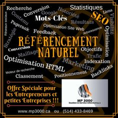Référencement web positionnement Optimal Offre Spéciale pour les petites Entreprises 514-433-8469 Promotion, Page Web, Small Business Resources, Digital Marketing