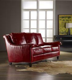 Bradington-Young Red Sofa