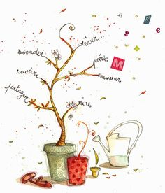 arbre de vie                                                                                                                                                      Plus Illustrations, Illustration Art, Photo Tree, Watercolor Cards, Mail Art, Positive Attitude, Plexus Products, Doodles, Place Card Holders
