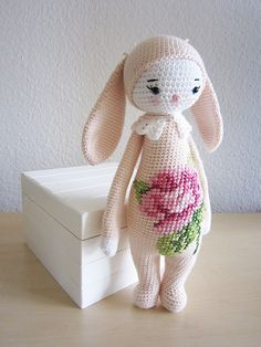 Ravelry: RITA the rabbit - easter bunny mod kit for lalylala dolls pattern by Lydia Tresselt