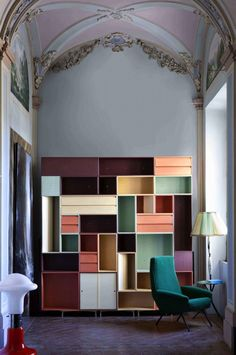 Founders of Officefordesign, Andrea Palmioli and Mirko Spaccapanico designed wonderful and colorful systems of organization and display.  Haute Design by Sarah Klassen