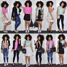 It's so much easier getting dressed in the morning when everything is easy to mix and match. Colour pop capsule wardrobe