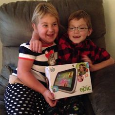 """It's Epictober! """"Epic kids"""" are creative adventurous funny and imaginative! My kids are EPIC are yours?! Leave a comment & tell us why! Stay tuned to hear our thoughts about the new @leapfrogofficial Epic! #LeapFrogEpic #LeapFrog #LeapFrogMomSquad"""