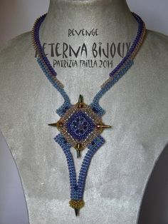 Beading tutorial Revenge necklace- bead tutorial, beadwork, beading pattern, craw, spike beads, beading instructions