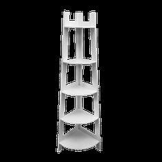 Ραφιέρα γωνιακή CORNER 37x37x152εκ. Λευκό - Diafano