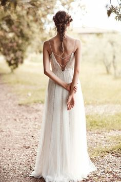Anna Kara 2019 collection bridal pop up ethereal boho lace wedding dresses, at Miss Bush luxury bridal boutique in London, Surrey. Sheer Wedding Dress, Elegant Wedding Dress, Wedding Dresses, Animation Photo, Marie Laporte, Bridal Hair Inspiration, Boho Vintage, Braided Hairstyles For Wedding, Bridal Boutique