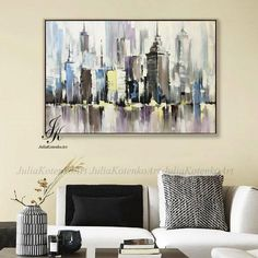 Minimalist Home Interior Excited to share this item from my shop: City Abstract Painting Artworks Original Cityscape Painting Textured Urban Abstraction Acrylic Abstract Painting On Canvas by Julia Kotenko Art Texture, Texture Painting, City Painting, Acrylic Painting Canvas, Painting Trees, Grand Art Mural, Abstract City, Hippie Home Decor, Natural Home Decor