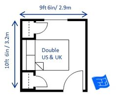 Our bedroom dimensions, yet our children seem to have more space. Minimum bedroom size for a queen b Master Bedroom Layout, Bedroom Size, Bedroom Layouts, Master Bathroom, Bathroom Inspo, Build A Murphy Bed, Murphy Bed Ikea, Murphy Bed Plans, Modern Bedroom Design