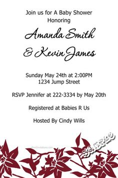 Flower Floral Baby Shower Invitations ANY COLOR SCHEME - Get these invitations RIGHT NOW. Design yourself online, download and print IMMEDIATELY! Or choose my printing services. No software download is required. Free to try!