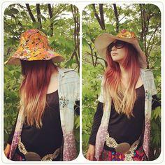 春夏の新作のチューリップハット♪ お店のオリジナル商品です。 70sのヴィンテージ生地で作ってます。一点物です(^-^)/ 人気商品です(*^^*) #チューリップハット#レトロポップ #レトロ#ヴィンテージ#オリジナル#ヒッピー#70年代#サイケ#帽子#ウッドストック#フェス#vintage #fabric#70s#6070talstyger#60s#hat #original#psychedelic#hippie#Woodstock