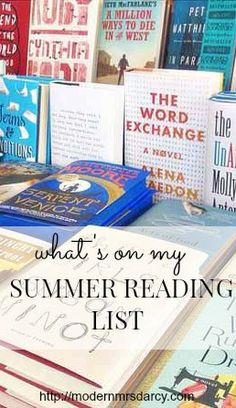 What the author of a summer reading guide decided to put on her summer reading list.