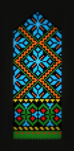 The Latvian Traditional Mittens Pattern from the Kurzeme region, 18th c. -- Love the color combo