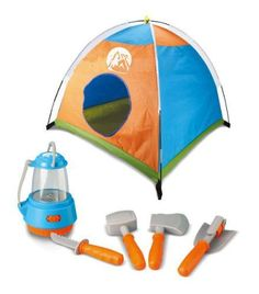 Little Explorer Camping Tent & Tools Toy Gear Playset w/Lantern