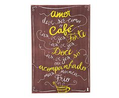 Box Decorativo Amor Café - 40x60cm