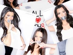 NO H8 Campaign: Kourt, Kim and Khloé Kardashian ♥