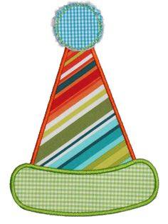 Party Hat Applique Design