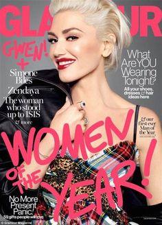 Gwen Stefani, Simone Biles, Zendaya & More Named 'Glamour' Women of the Year 2016 Gwen Stefani And Blake, Gwen Stefani Style, Revlon, Magazin Covers, Gavin Rossdale, Simone Biles, Vogue, Glamour Magazine, Woman Standing