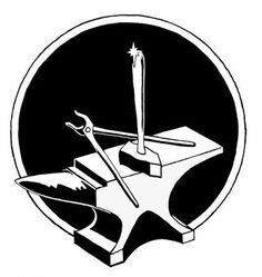 by Casey, Paul / Quicksilver Metalsmithing Blacksmith Image, Blacksmith Tools, Stencil Patterns, Stencil Art, Stencils, God Of War, Barn Quilts, Green And Purple, Molde