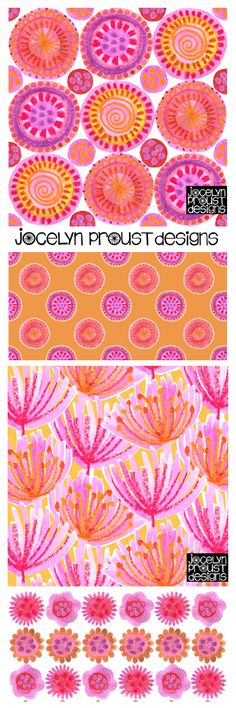 Jocelyn Proust Designs pink blooms collection