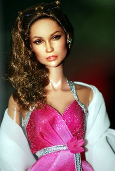 Mattel Red Carpet, Black Label Barbie of JLo, Repainted Jennifer Lopez as restyled and repainted by Noel Cruz of ncruz.com.