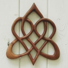 Stylized Celtic Heart-Wood Carved Knot of Everlasting Love | signsofspirit ArtFire Gallery