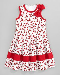 Cherry Pleated Dress by David Charles at Bergdorf Goodman.
