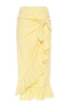 The Destination Edit: Honeymoon  What to Wear in the Amalfi Coast Vivetta Ruffled Midi Skirt