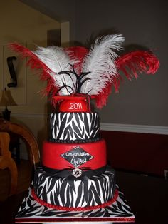 red and black 3 tier cake - Google Search