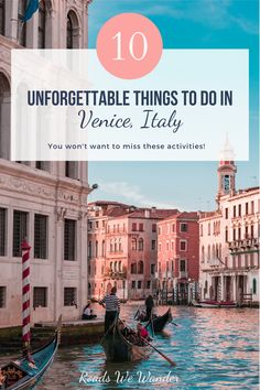Discover 10 amazing things to do in Venice, Italy! Venice is known for being an expensive vacation destination, but I've ensured that this list is budget conscious with sacrificing your experience! Venice Travel, Italy Travel, Visit Venice, Things To Do In Italy, Cities In Italy, Santa Lucia, Disney World Tips And Tricks, By Train, City Break