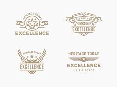 "Air Force ""Excellence"" Badges by Steve Wolf #badges #logo #typography"