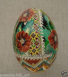 Ukrainian Pysanka by Ira GOOSE Egg View 3