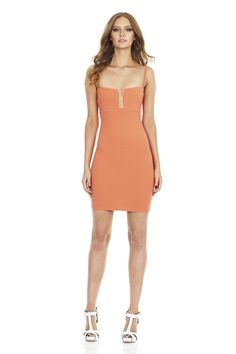 Coral Stadium Bustier Dress : Nookie