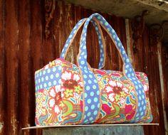 Girly Duffle Travel Bag on Etsy, $70.00