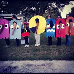 Pac-Man et al | 25 Clever Halloween Costumes To Wear As A Group