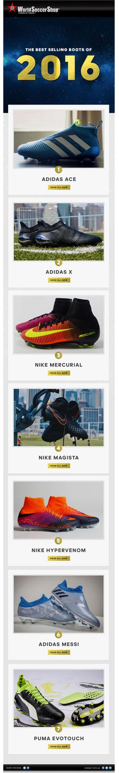 official photos d2a6a e41ab The best selling boots of 2016 at WorldSoccerShop.com World Soccer Shop,  German National