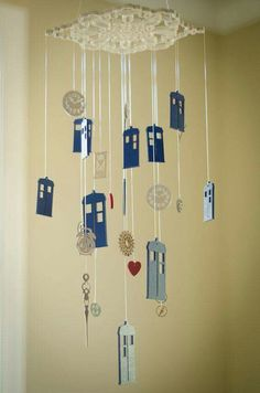 Doctor Who themed mobile. Could this be made with shrinky dink?