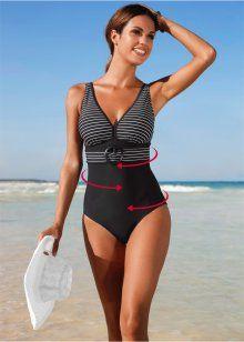 Утягивающий купальный костюм, bpc bonprix collection