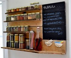 DIY spice rack. This is BEAUTIFUL!