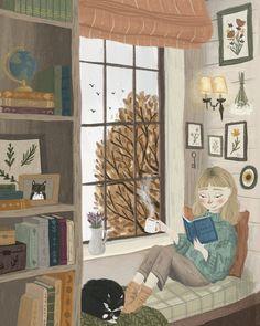 Autumn Illustration, Children's Book Illustration, Illustrations, Magazine Illustration, Photo Images, Arte Sketchbook, Cute Drawings, Cute Art, Art Inspo