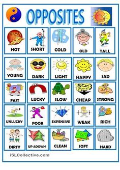 OPPOSITES worksheet - Free ESL printable worksheets made by teachers
