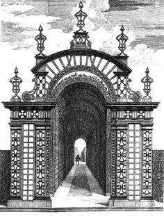 [Design for an arbor] -  Engraving - from Batty Langley (1696-1751)