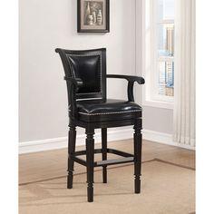 Hudson Black Bar Stool Bar Height (28 To 36 Inch) Bar Stools Kitchen & Dining Furniture